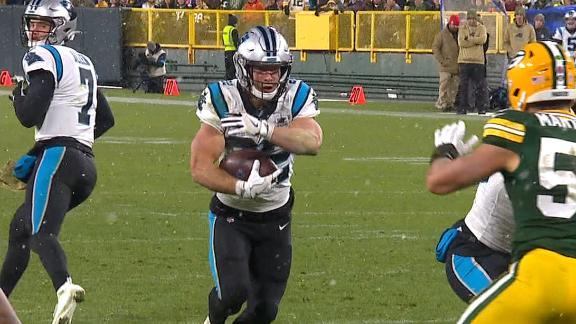 McCaffrey powers up the middle for 3-yard TD