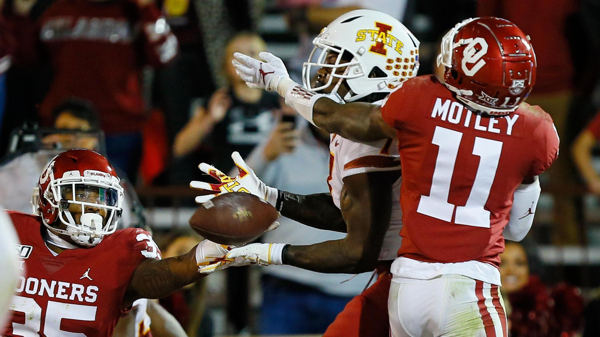 Oklahoma survives on Iowa State's failed 2-point conversion