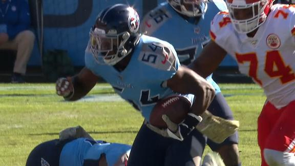 Evans returns fumble 53 yards for a Titans TD
