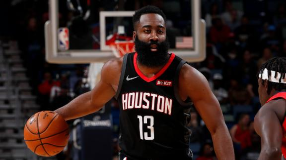 Harden's second half performance lifts Rockets over Pelicans