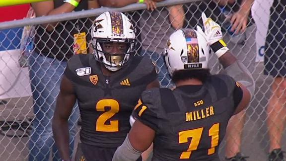 ASU's Aiyuk penalized for high-fiving fans