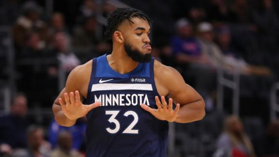 KAT dominates Pistons from inside and out