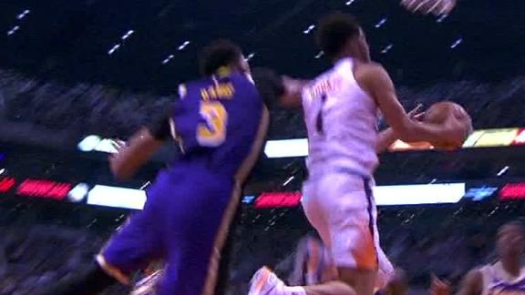 Booker drops in acrobatic and-1