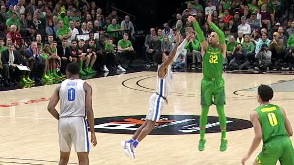 Mathis drains deep 3 for Ducks