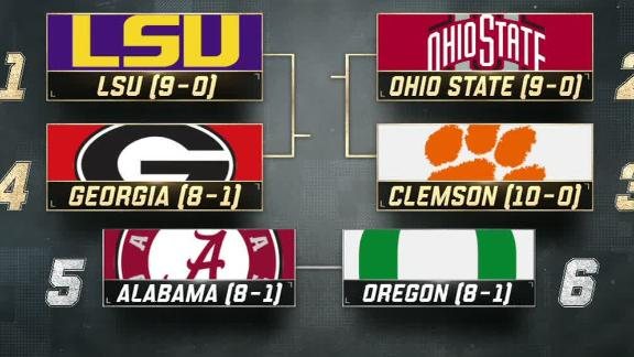 LSU claims top spot, Bama falls out of top four in CFP rankings