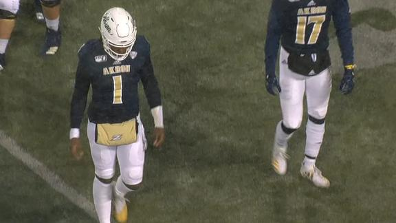 Akron QB botches pooch punt for zero yards