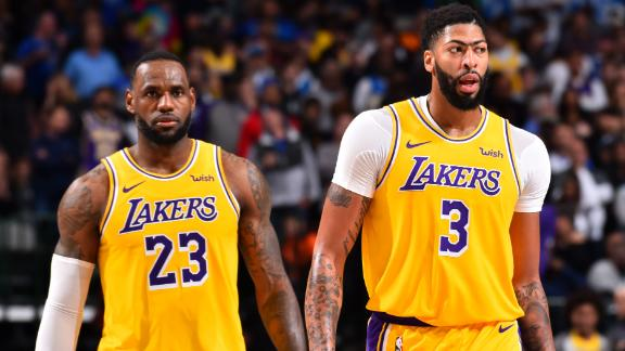 Dynamic duo of AD, LeBron has Lakers rolling