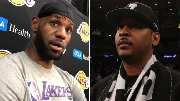 LeBron: I always hoped Melo would get an opportunity