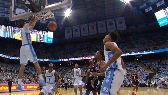 Chapel Hill erupts on Anthony's monstrous alley-oop