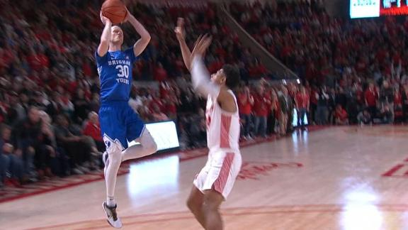 BYU gets the friendly roll to beat Houston on the buzzer-beater