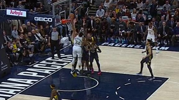 Giannis gets the poster and rejection on the other end