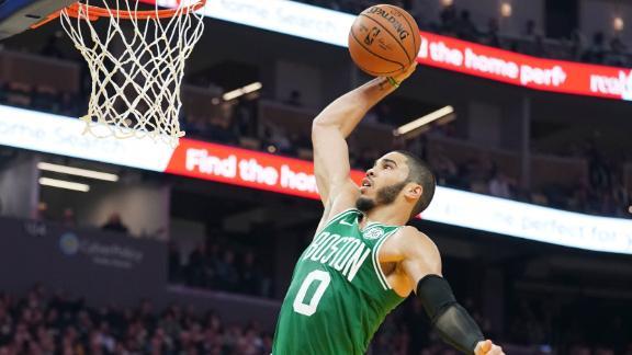 Tatum leads Celtics with 24 points vs. Warriors