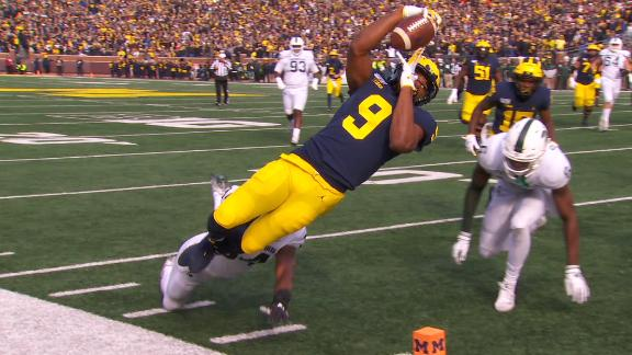 Peoples-Jones leaps into end zone for spectacular TD