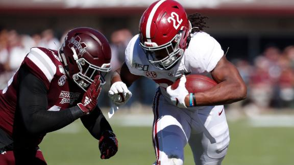 Harris leads Bama in win over Bulldogs