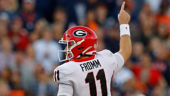 Fromm throws 3 TDs as Georgia holds off Auburn