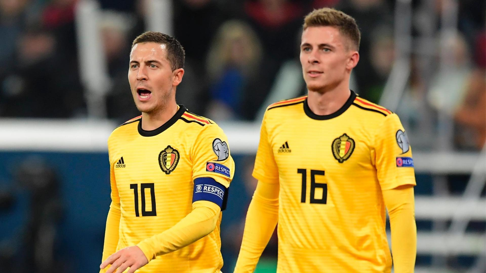 Hazard brothers lead Belgium to first place in Group I