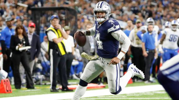 Prescott's big day lifts Cowboys past Lions