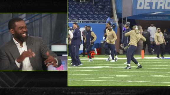 Dak's pregame hip shakes have the Countdown crew busting a move