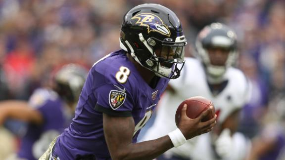 Jackson's 4-TD day leads Ravens past Texans