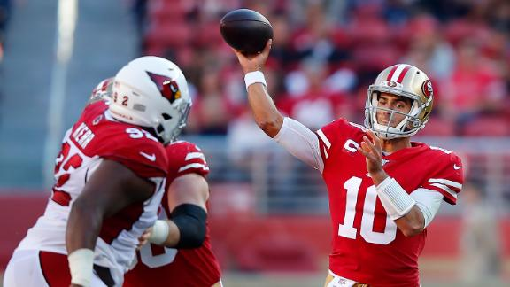 Garoppolo throws 4 TDs in comeback vs. Cards