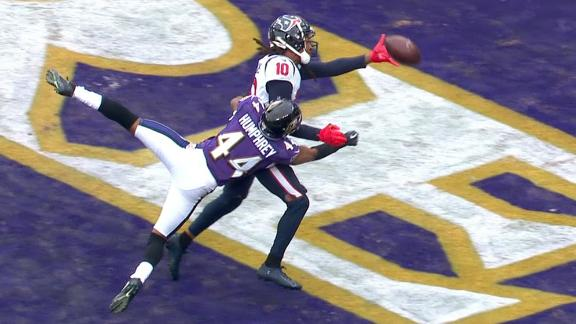 Texans don't get pass interference call on Hopkins play