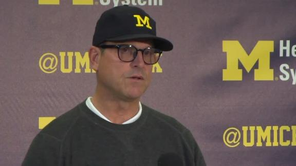 Harbaugh compares Michigan's improvement to potatoes