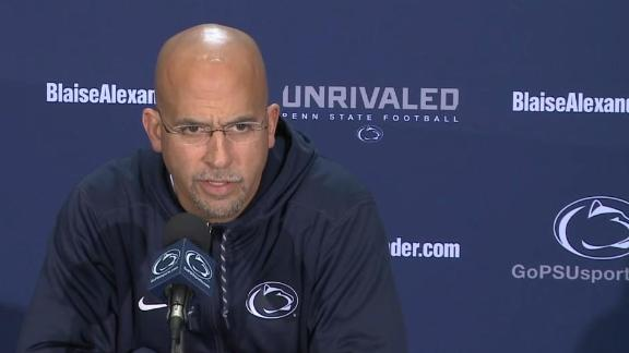 Franklin: Death threats aimed at PSU QB are 'concerning'