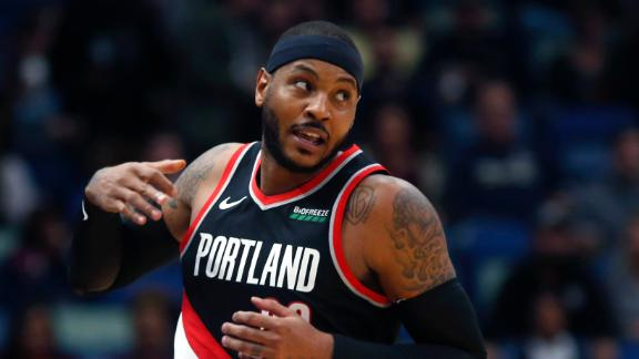 Carmelo has up-and-down debut with Blazers