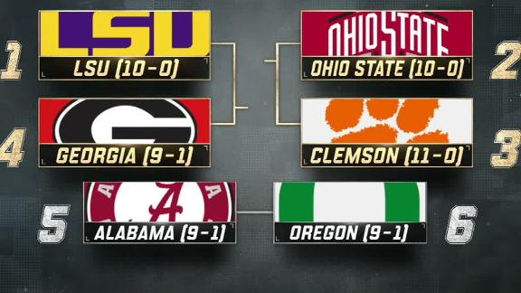 LSU, Ohio State, Clemson and Georgia remain at the top