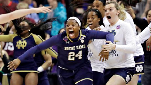 Ogunbowale comes up clutch in Notre Dame's title run