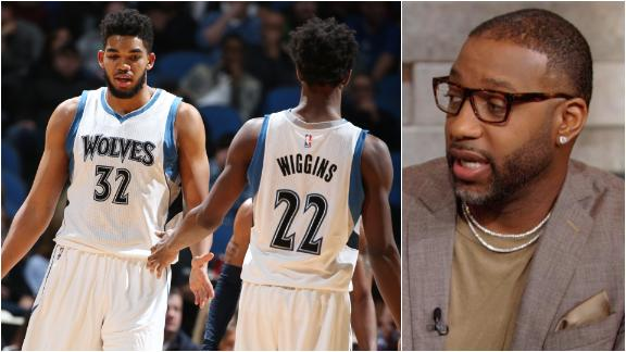 McGrady: KAT, Wiggins will lead Wolves to the playoffs