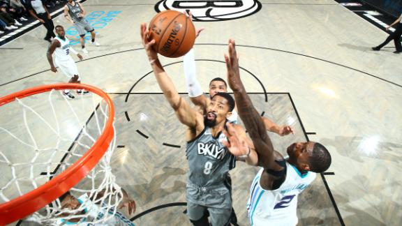 Dinwiddie flirts with double-double in Nets win