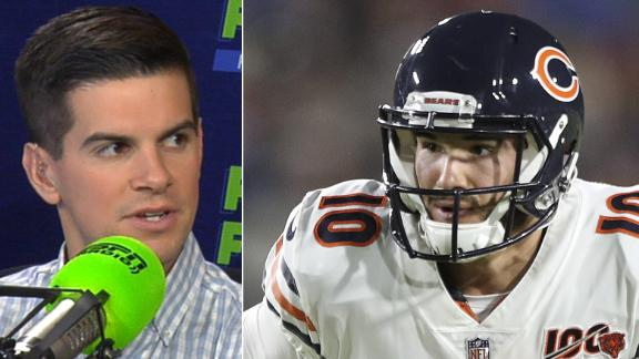 Yates: Trubisky's hip injury has no fantasy impact