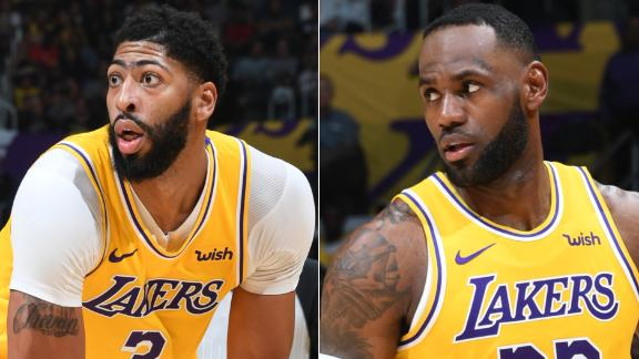 Davis shines, LeBron makes history in Lakers' win