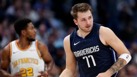 Luka outscores Warriors in 1st, notches second straight triple-double