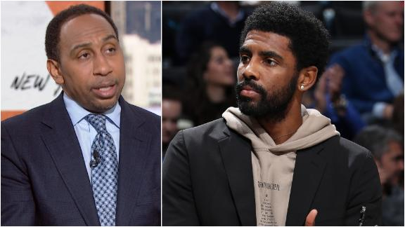 Stephen A. not hearing good things about Kyrie in Brooklyn