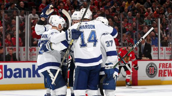 Lightning net three third-period goals to secure victory