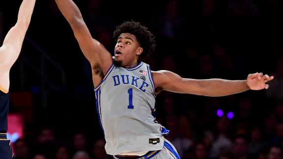 Carey finishes with double-double in Duke win