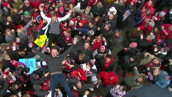McAfee teaches Miocic how to crowd surf