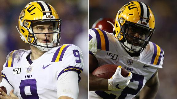 Burrow, Edwards-Helaire lead LSU to another dominating win