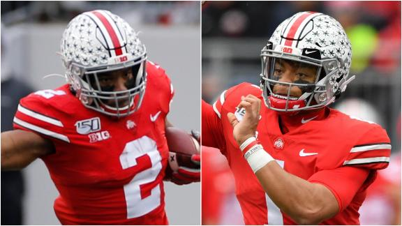 Dobbins and Fields combine for 4 TDs in Ohio State victory