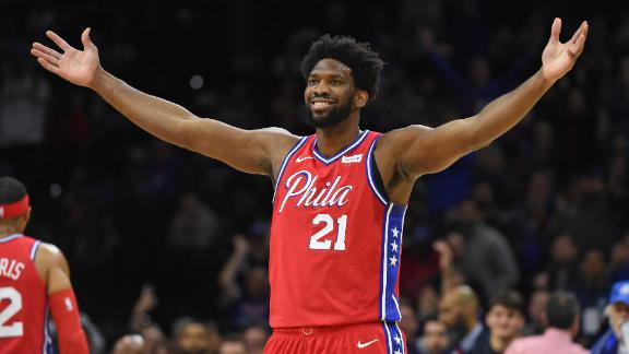 Embiid excites the Philly faithful in 76ers' rout