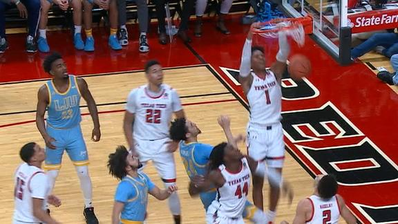 Shannon shows off the dunks in Texas Tech's win
