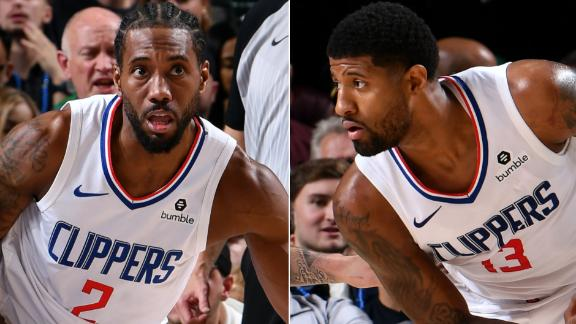 Kawhi, PG lead Clippers past the Mavs