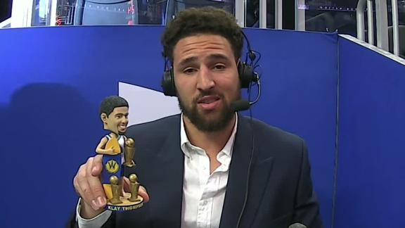 The best of Klay's quarter as a sideline reporter