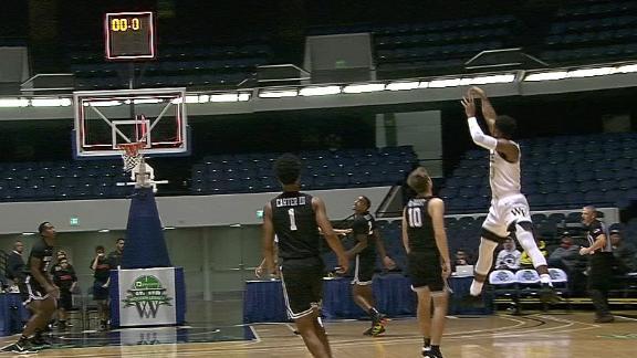 Andrien White buries half-court buzzer-beater