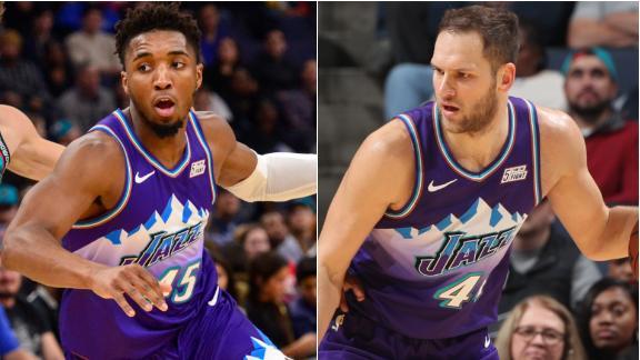 Bogdanovic and Mitchell lead Jazz to comeback win