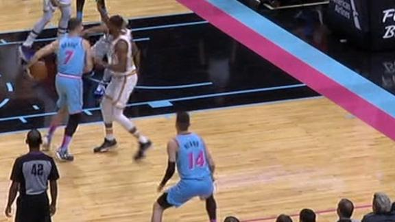 Dragic drops Bowman, flips behind-the-back pass for Herro 3