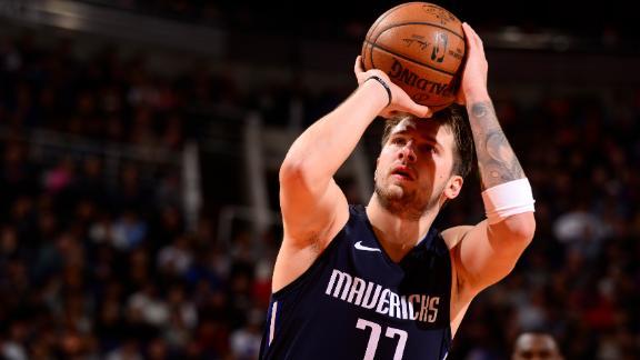 Luka caps historic month with 42 points in Mavs' win