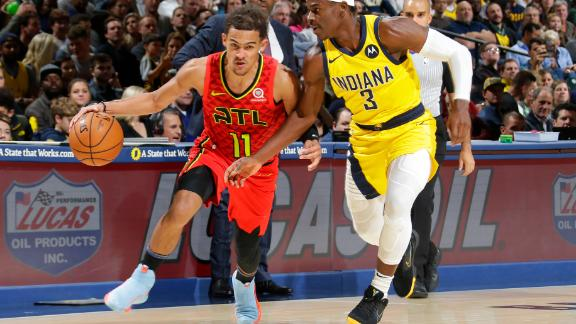 Trae Young ties career high with 49 points vs. Pacers